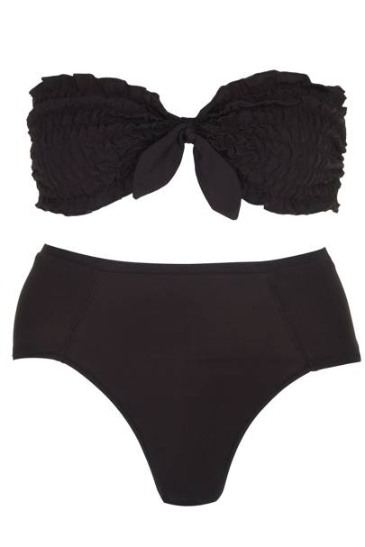 Black ruched bikini set, £40